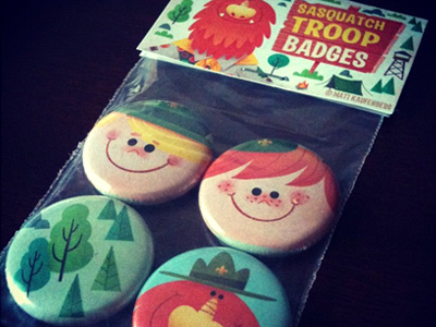 Sasquatch-troop-buttons
