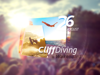 CliffDiving flyer.