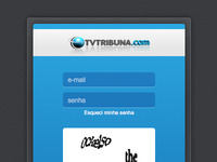 TV Tribuna Login Screen