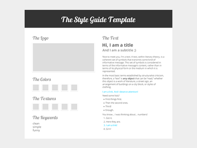 Style Guide Template  Guide Templates