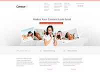 Contour Website Homepage Header Design