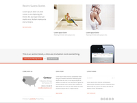Contour Busines Website Footer Design