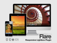 Flare Responsive Mobile Optimized Lightbox Plugin