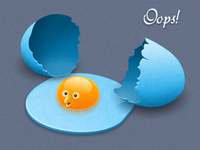 Dropped Twitter Egg