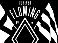 "130113 ""Flowing"" tee design for River City Social Club"