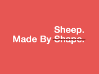Made by Shape = Sheep