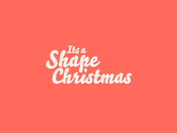 It's a Shape Christmas Logo