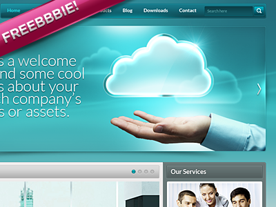 Download Corp Website .psd