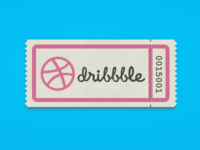 Dribbble Ticket CSS