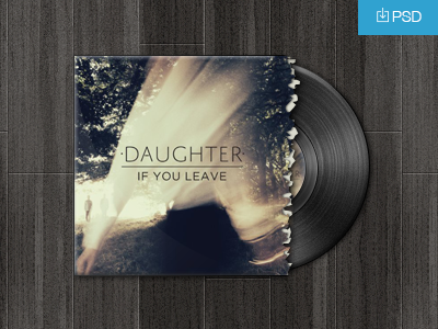 Download Vinyl Record PSD Freebie