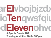 Another El Ten Eleven Poster