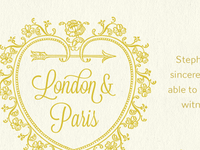 London & Paris (Wedding Website)
