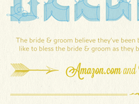 Arrows & Typography (Wedding Website)
