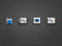Illustrator Skills Icons / CS5 style