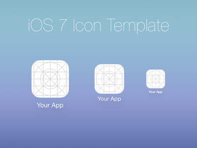 Download iOS 7 Icon Template