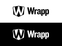 Monochrome variant of Wrapp logo