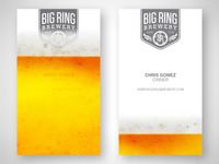 Big Ring Brewery business card