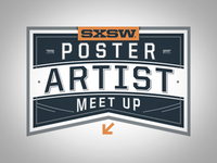 SXSW Poster Artist Meet Up badge