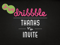 thanks dribbble!