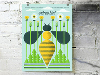 "Andrew Bird ""Bee"" poster"