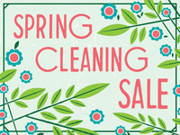 Spring Cleaning - 25% off entire order!