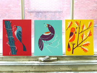"""Birds Of Play"" art prints"