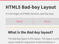 Html Bad-Boy Layout