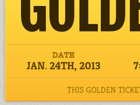 Pure HTML & CSS Golden Ticket