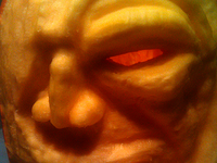 First Time Pumpkin Sculpting