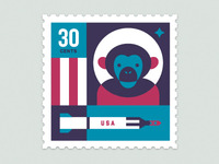 Space Animal Stamp Series - Ham