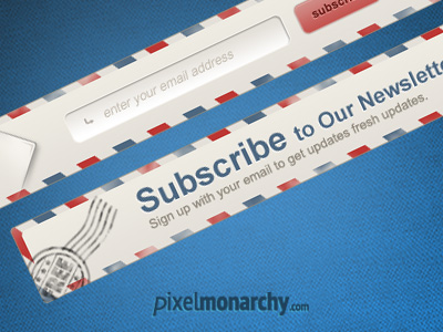 Newsletter-envelope-signup-form