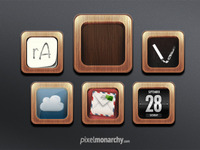 App Icons -  Wood Frame Template