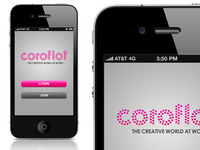 Coroflot iPhone App (Splash Page)
