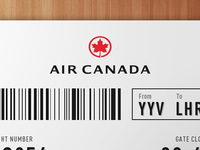 Air Canada Ticket Redesign