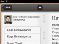 Home Cooked iPad app