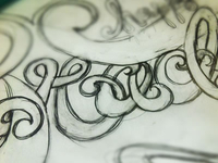 Lettering Sketch | Detail Shot
