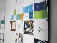 Branding - Logo Options - Office wall