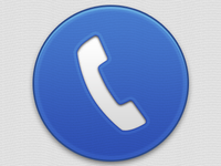 Big Blue Phone Button