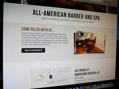 Updated Barber Shop Site Design