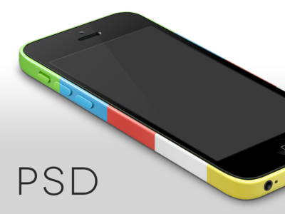 Download iPhone 5C Perspective Template