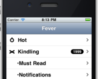 Fever client for iOS