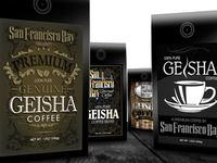 Geisha Coffee Package Designs
