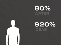 Human - 80% Water, 920% Ideas