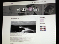 Whiskey & Lace Wordpress Theme