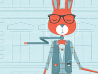 H is for Hipster Hare