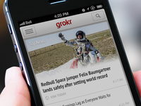 Grokr's Top News - iPhone UI