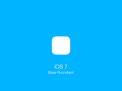 Download iOS 7 Base Roundrect Shape / Icon Template