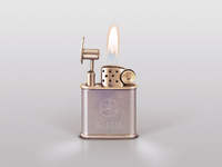 dribbble lighter