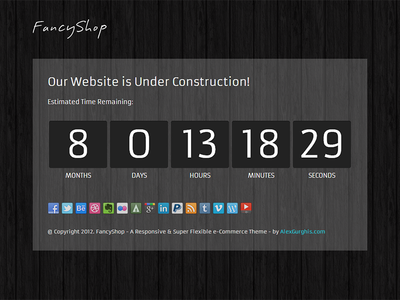 FancyShop Under Construction Page