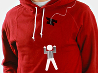 Clown vs. Mime - Front of hoodie